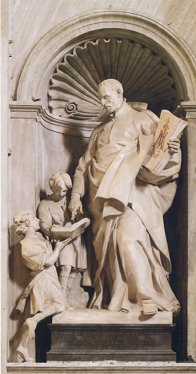Innocenzo Spinazzi: Statue av St Josef av Calasanz i Peterskirken (1752-55)